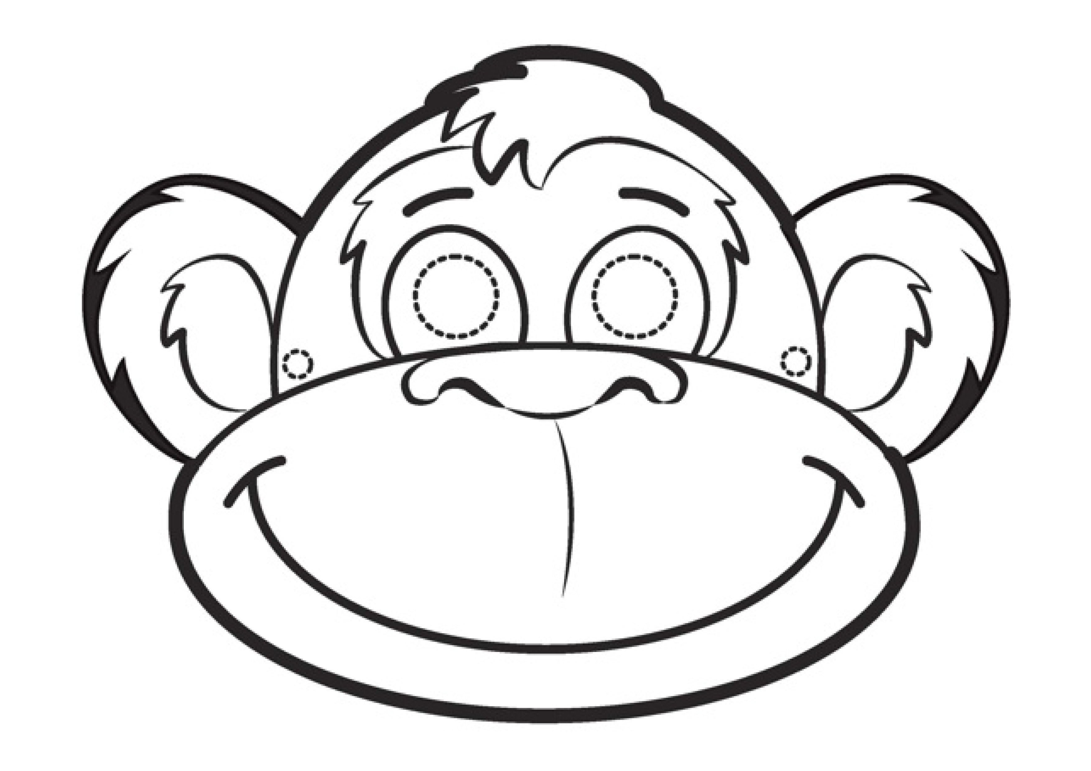 Contemporary Monkey Face Mask Template Illustration - Resume Ideas ...